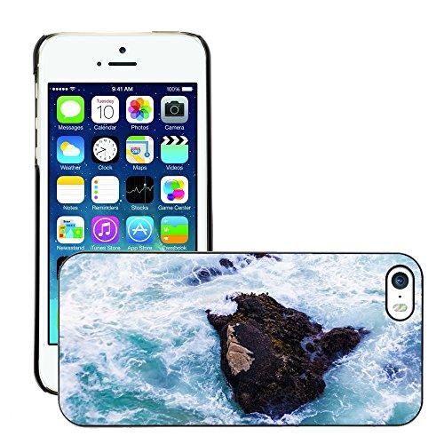 Stampato Modelli Hard plastica Custodie indietro Case Cover pelle protettiva Per // M00421765 Ocean Rocher Mer Nature Voyage eau // Apple iPhone 5 5S 5G