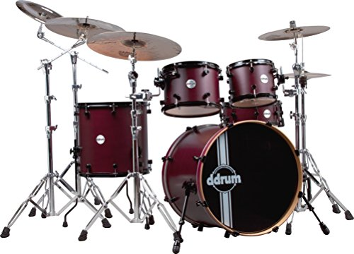 ddrum REFLEX RSL 22 5 PC WRS Reflex Drum Set RSL 22 5 Piece, Wine Red Satin