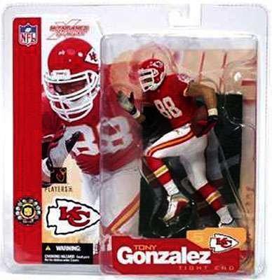 McFarlane Toys NFL Sports Picks Series 5 Action Figure Tony Gonzalez (Kansas City Chiefs) Red - Chiefs Toy City Kansas