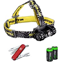 Nitecore HC50 565 Lumens CREE XM-L2 LED headlamp with Victorinox Swiss Army Classic SD Knife/multi-Tool and Two EdisonBright CR123A Lithium Batteries