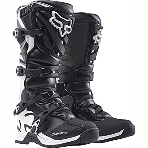 Fox Racing Comp 5 Men's Off-Road Motorcycle Boots - Black / Size 12 - Mens Off Road Motorcycle