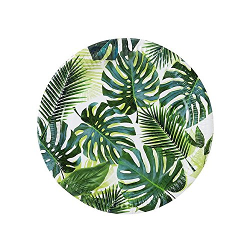 (Luau Party Hawaiian Theme Party Supplies Paper Plates Palms 9