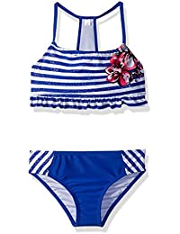 Girls' Foil Stripe W/Floral Cream 2pc
