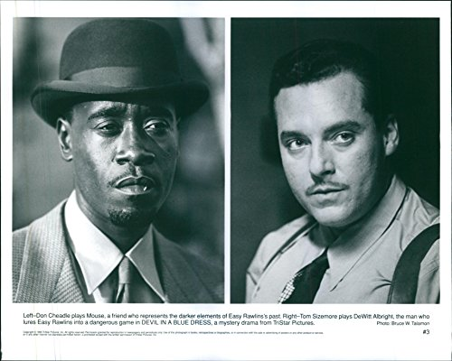 Vintage photo of Don Cheadle and Tom Sizemore in the film Devil in a Blue Dress.