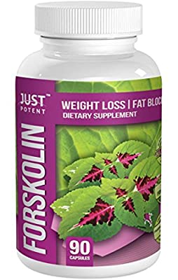 Just Potent Pharmaceutical Grade Forskolin Extract :: 20% Forskolin :: 250mg Coleus Forskohlii Per Serving