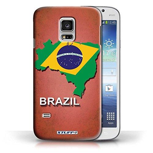 Kobalt® Imprimé Etui / Coque pour Samsung Galaxy S5 Mini / Brésil conception / Série Drapeau Pays