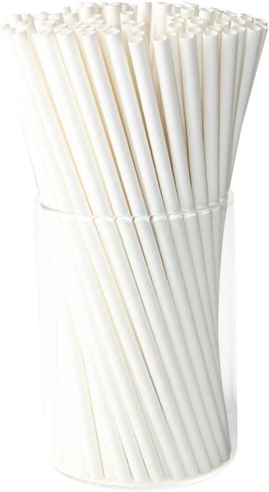 Value Pack 100 Pcs Eco-frendly Straws Bulk for Party Supplies Birthday Wedding Red Christmas Christmas Paper Straws Bulk Biodegradable DIY Idea Baby Shower Bridal