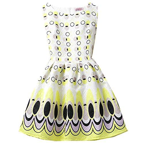 FTSUCQ Girls Butterfly Pattern Princess Long Dress,Yellow - Ftd Rose Gifts
