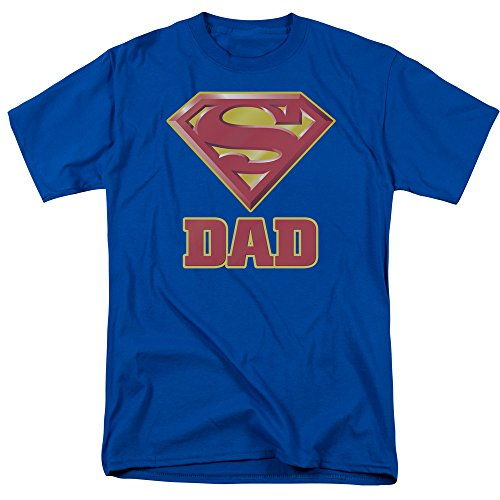 DC COMICS SUPERMAN -- SUPER DAD -- LICENSED MENS S/S TEE (M) Royal Blue