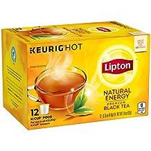 Lipton Premium Black Tea K Cups, Natural Energy 12 ct (Pack of 6)