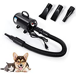 2800W Portable Dog Cat Pet Hair Grooming Dryer Blow Blaster Hairdryer Black