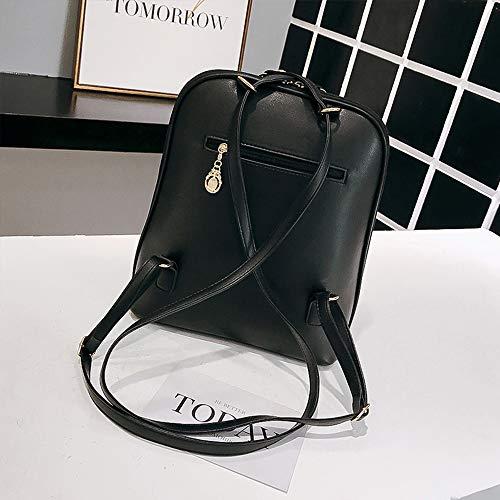 Cuoio Mini 03 piccola impermeabile e casual Balabala borsa borsa per da adolescenti pelle nero viaggio carino viaggio zainetto Rucksack da in donne ragazze Err1pq
