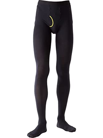 2ea6ce25d Amazon.com  N-platz Mens Smoofit 80 Denier Plain Knit Footed Thermal Tights   Clothing
