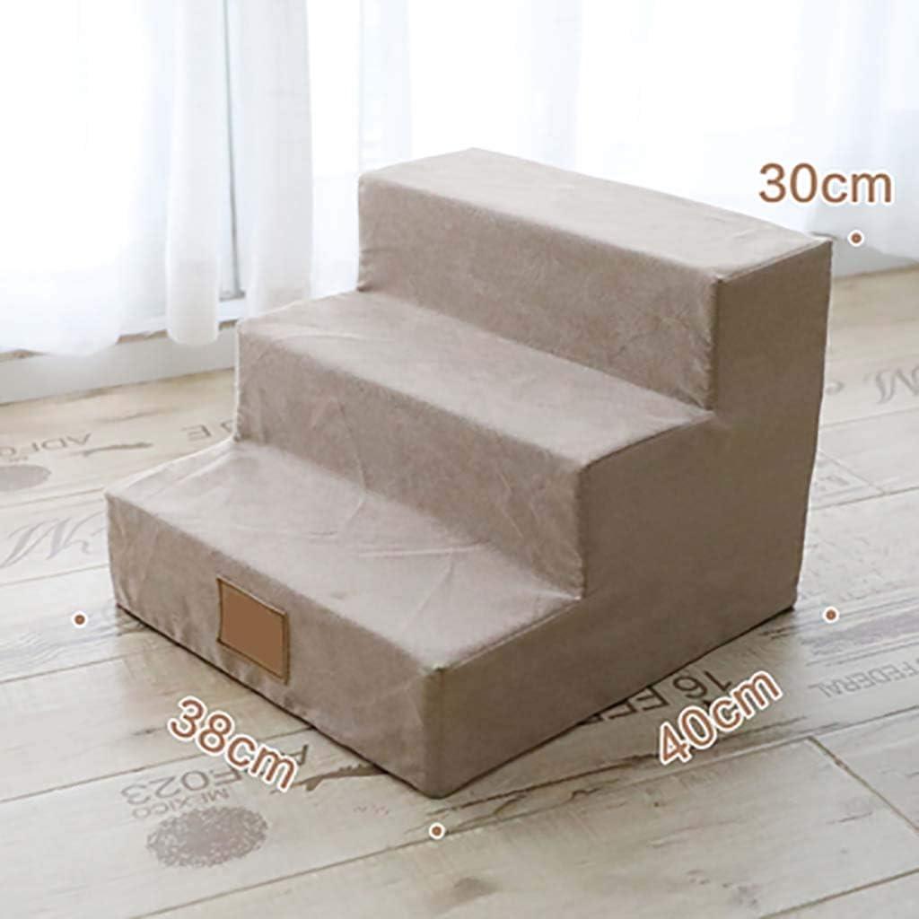 3 Pasos Mascota Escaleras De Mascotas Esponja Ligero Antideslizante Escalera De Cama Para Mascotas Sofá Cama Escalera Respirable Para Gatos Los Perros-kaki 38x40x30cm(15x16x12inch): Amazon.es: Bricolaje y herramientas