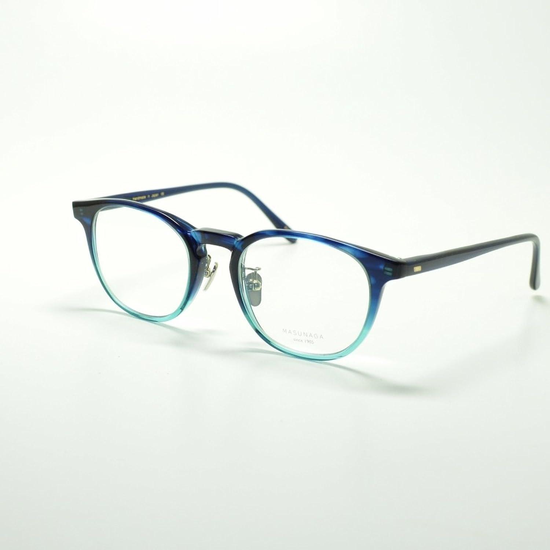 増永眼鏡 MASUNAGA マスナガ GMS-07 col-45 DBL/SBL メガネ 眼鏡 めがね メンズ レディース おしゃれ ブランド 人気 フレーム 流行り レンズ B07DRDTMC9