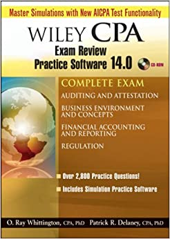 Wiley CPA Examination Review Practice Software 14.0 Complete Exam: Auditing and Attestation; Business Environment and Concepts; Financial Accounting and Reporting; Regulation