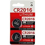 CR2016 Key Fob Remote Battery (2-Pack)