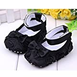 Cute Baby Girl Crib Shoes Comfortable Soft Sole Anti-Slip Sandal Princess Rose Flower Infant Toddler Shoes