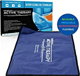 Active Therapy Hot and Cold Gel Pack - Ultra Flexible Ice Packs for Injuries, Pain & Muscle Aches w/Heat for Maximum Relief & Comfort (Full Size - 21.5x13 in.)