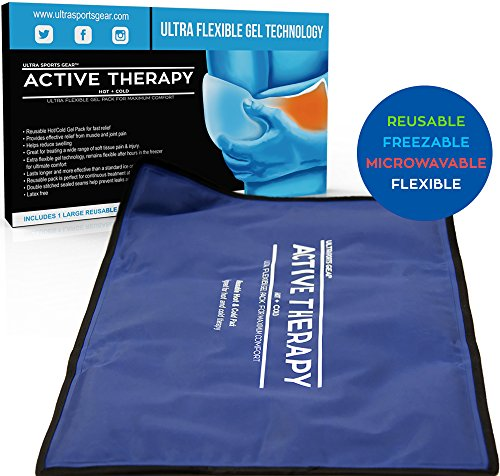 Active Therapy Hot and Cold Gel Pack - Ultra Flexible Ice Packs for Injuries, Pain & Muscle Aches w/Heat for Maximum Relief & Comfort (Full Size - 21.5x13 - Active Pak