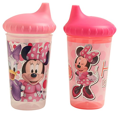 Disney Minnie Mouse Glitter 2 Piece Slim Sippy Cups, Clubhouse