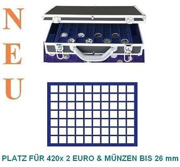 Safe 268 182 Alu Münzkoffer Diamant Schwarz Für 420 X 2 Euromünzen