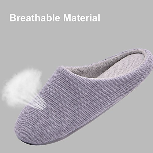 9dad9dfac64c 80%OFF Wishcotton Men s   Women s Memory Foam Slippers Washable House Shoes  with Non-