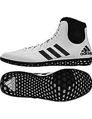 adidas Tech Fall Wrestling Shoes - White/Black