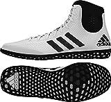Adidas Tech Fall Wrestling Shoes - White/Black - 8
