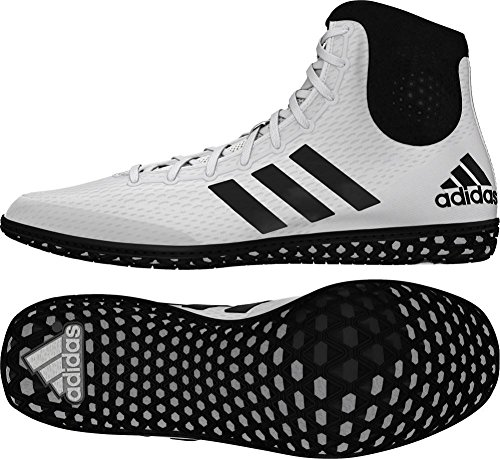 adidas Tech Fall Wrestling Shoes - White/Black - 4.5