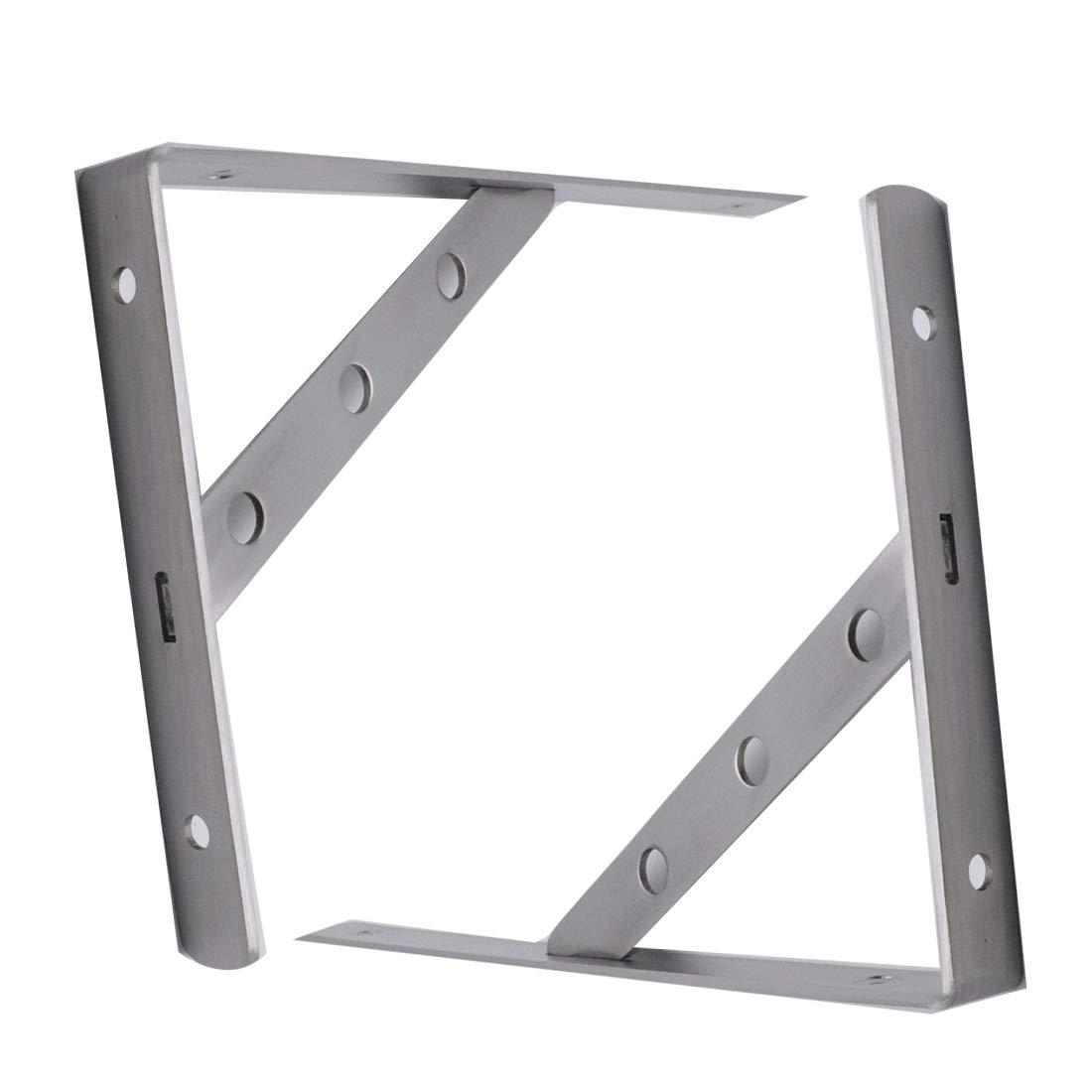 ZXHAO 10 inch Stainless Steel Triangle Heavy Duty Shelf Bracket Support Wall Hanging 2pcs