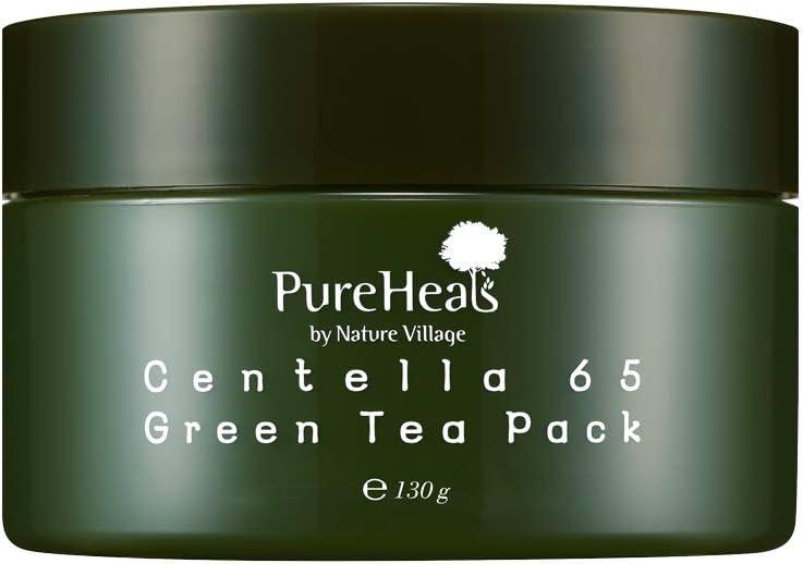 PureHeals Centella 65 Greentea Pack, Mascarilla Facial 130 ml ...