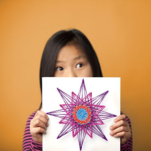51k fR%2BJ%2BkL - Ann Williams Group Craft-tastic String Art Kit III - Craft Kit Makes 3 Large String Art Canvases