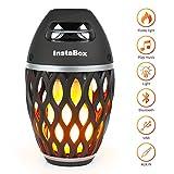 InstaBox Firestarter FS18 LED Flame Bluetooth Speaker, Touch LED Night Light Outdoor/Indoor Portable Stereo Wireless Bluetooth Speaker 6 Watt HD Audio, IP65 Waterproof, 96 LEDs Flickers Light