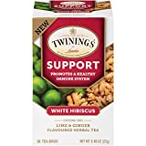 Cheap Twinings of London Daily Wellness Tea, Support Healthy Immune System White Hibiscus, Lime & Ginger, Flavored Herbal Tea, 18 Count (Pack of 6)