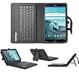 LG G Pad X8.3 keyboard case, KuGi High quality Ultra-thin Portfolio Case - Detachable Bluetooth Keyboard Stand Case / Cover for LG G Pad X 8.3 tablet.(Black)