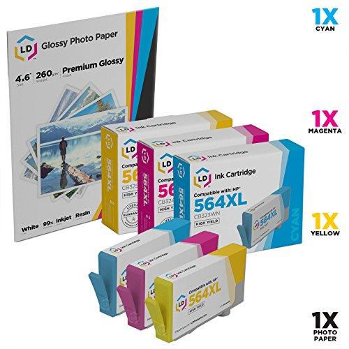 LD © Remanufactured HP 564XL Color Ink Set of 3 for Des