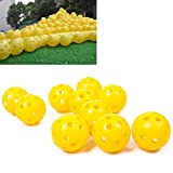 Vicky Store 10Pcs/Pack Perforated Balls Durable Construction Airflow Plastic Golf