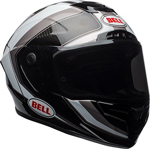 (Bell Race Star Full-Face Motorcycle Helmet (Gloss White/Titanium Sector, Medium))
