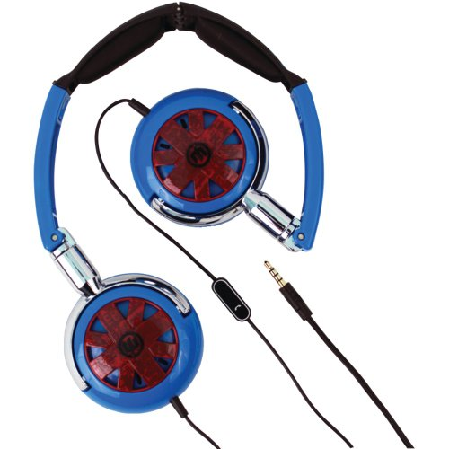 Wicked Wi-8150 Tour Headphones With Microphone (Blue)