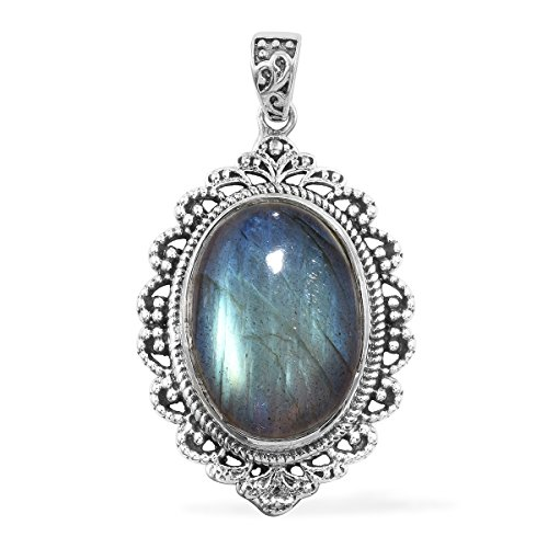 Artisan Crafted Labradorite Sterling Silver Pendant Necklace For Women without (Artisan Crafted Necklace)