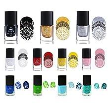Nail Art Stamping Polish Nail Varnish Lacquer BeaTea Nail Plate Printing Polish Manicure 1 Bottle 6ml 11 Boxes