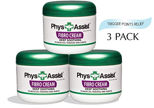 PhysAssist Fibromyalgia Cream Deep Soothing Penetrating Relief for Generalized Pain (Back, Neck, Right & Left Side of The Body) 3 Pack. (Pain All Over My Body And Fatigue)