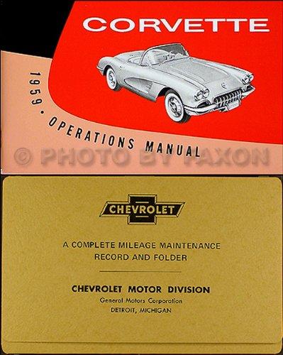 1959 Corvette Owner's Manual Reprint Package
