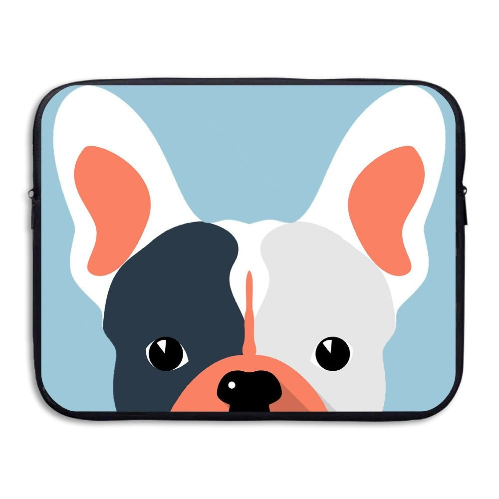 Business Briefcase Sleeve Funny French Bulldog Dog Laptop Sleeve Case Cover Handbag For 13 Inch Macbook Pro/Macbook Air/Asus/Dell/Lenovo/Hp/Samsung/Sony/Women & Men