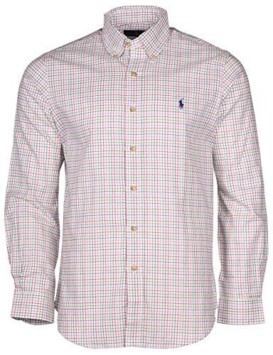 ralph-lauren-men-standard-fit-pony-logo-button-down-shirt-l-off-white-multi