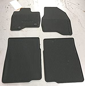 oem factory stock 2015 2016 ford explorer black ebony rubber all weather floor mats set 4 pc front rear - Ford Explorer Black 2015