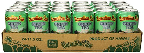 - Hawaiian Sun Green Tea with Ginseng, 11.5-Ounce (Pack of 24)