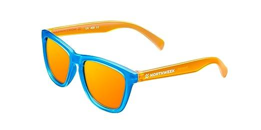 NORTHWEEK Kids Chase - Gafas de Sol para Niños-Unisex, Polarizadas, Naranja/Azul: Amazon.es: Ropa y accesorios
