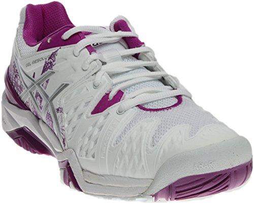 ASICS GelResolution 6 L.E. London Womens Tennis Shoe 11 White-Silver-Purple